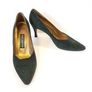 Stuart Weitzman | green suede pumps heels